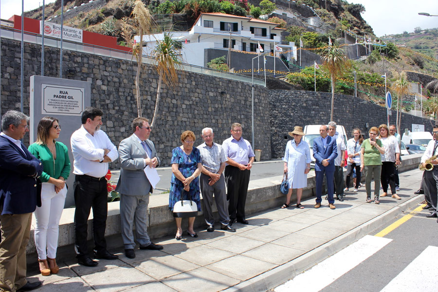 Rua Padre Gil Ormonde na Ribeira Brava