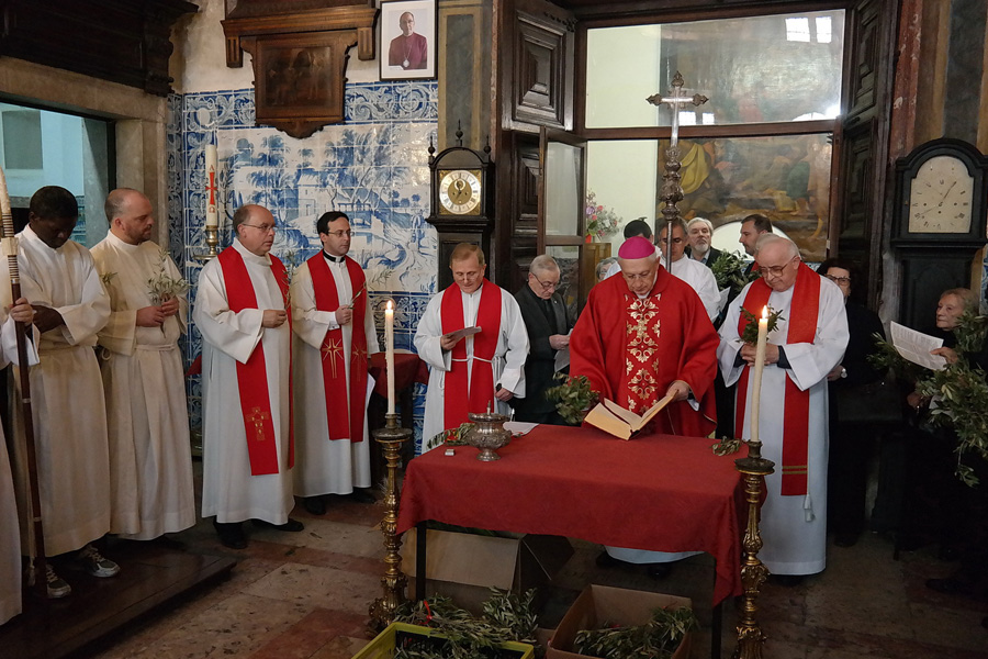 Domingo de Ramos na Igreja do Loreto a 9 de Abril de 2017