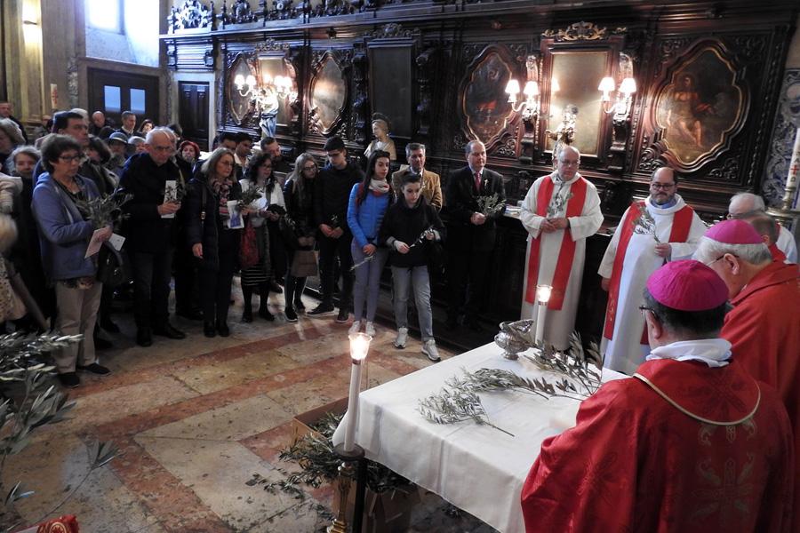 Domingo de Ramos na Igreja do Loreto em Lisboa