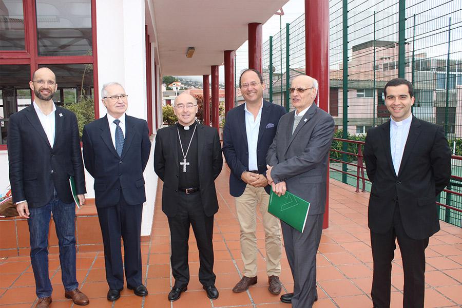 D. Nuno Brás, Bispo do Funchal,visitou a Escola da APEL