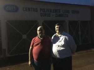 Padre Luciano Vieira na missão do Gurué, Moçambique
